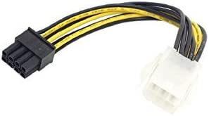 A 6-pin to 8-pin PCI Express Power Converter Cable for GPU Video Card PCIE PCI-E TM Elevin