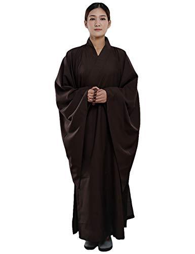 G like Mönch Buddhist Kostüm Robe Chinesische Buddhistische Kleidung Kampfkunst Shaolin Wushu Kung Fu Langärmelige Uniform Unisex für Männer Frauen