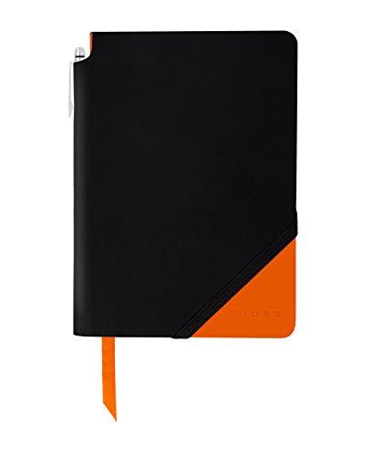 Leatherette Cross - Cross Jot Zone Journal, Black/Orange, Medium (AC273-1M)