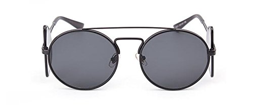 vintage cercle Lennon Grise en rond polarisées du lunettes Pièce de soleil inspirées retro métallique style 4wf0gvx