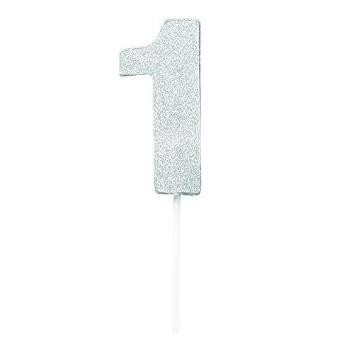 Forum Novelties DNS1 Diamond Cake Topper, Silver -