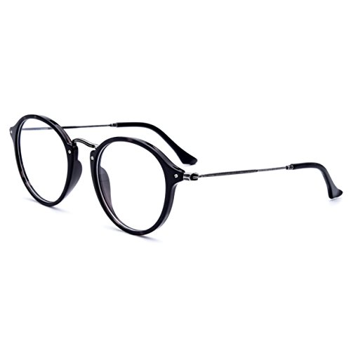 HEPIDEM Acetate Women Round Myopia Optical Glasses Frame Eyewear Spectacles 2036 (gray leopard, - Online Shopping Frames Spectacle For