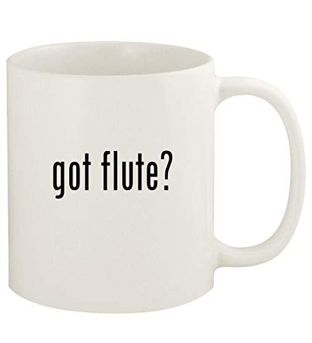 got flute? - 11oz Ceramic White Coffee Mug Cup, White