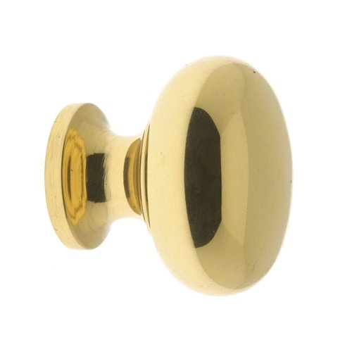 IDHBA idh by St. Simons 21196-003 Premium Quality Solid Brass Round Door Knob, 1-Inch, - Hinges Brass Full Mortise Extruded