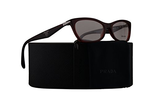 Prada PR15PV Eyeglasses 53-16-135 Burgundy Shaded Red w/Demo Clear Lens MAX1O1 VPR15P PR 15PV VPR - On Prada Sunglasses Sale