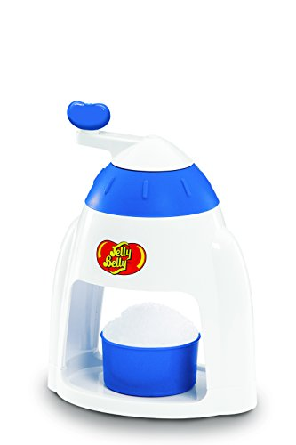 (Jelly Belly JB15317 Easy to Use Manual Commercial Snow Cone Maker Fast Fun and Easy Icy Treat, Blue)