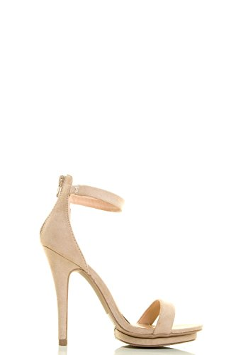 Cinturino Donne Del Alla Diva Piattaforma Stiletto Del Tallone 01 Caviglia Tacco Amy Naturale Sandalo Selvaggio Pompa CFUxqwSx