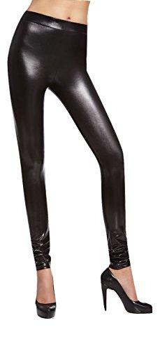 Leggings brilantinati  Niki sexy effetto bagnato in vernice effetto pelle