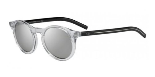 Christian Dior - BLACK TIE 170S, Round, acetate, men, CRYSTAL GREY BLACK/GREY SILVER MIRROR(MNG/SS), - Dior Tie Sunglasses Black Christian
