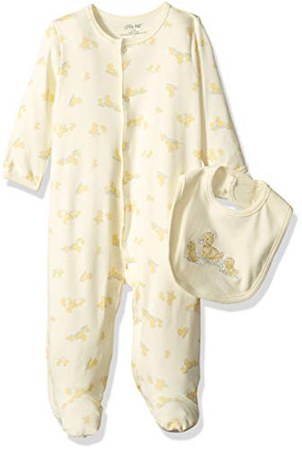 Little Me Baby Infant Footie and Hat, Yellow Print, Newborn