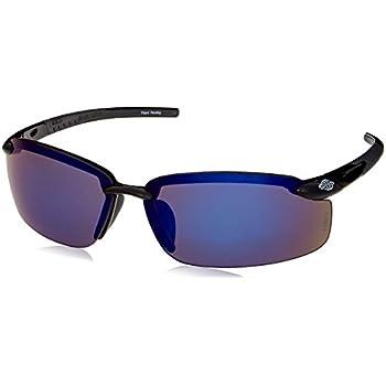 579cadbabbe Crossfire 2968 ES5 Safety Glasses Blue Mirror Lens - Shiny Black Frame