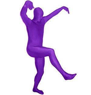 Morphsuit - Traje zentai de lycra (talla XL), color morado ...