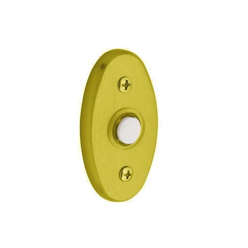 Baldwin 4858.003 Oval Doorbell Button, Lifetime Polished Brass