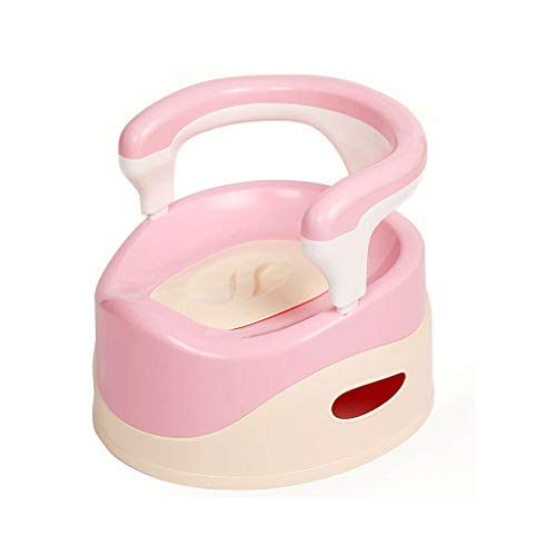 Portable Potty Training Chair, Kids Potty Toilet Trainer Chair Seat with Bracket (Color : Pink, Size : Baby) ()