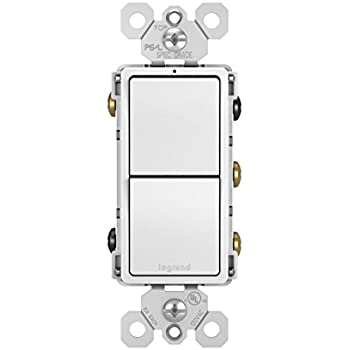 Legrand - Pass & Seymour radiant RCD33WCC6 Combination Switch: 15A Two Single Pole/3-Way, White