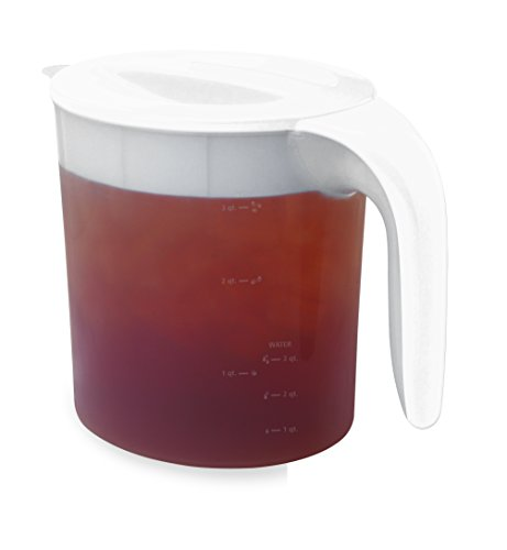 Mr. Coffee 3 Qt. Replacement Pitcher for Fresh Iced Tea Maker, White - Ice Tea Maker Pitcher