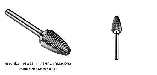 Amazon.com: DealMux 8/5 polegadas Cabeça de 6 milímetros Shank Tungstênio forma cónica Rotary Arquivo Moagem ferramenta Bit: Automotive