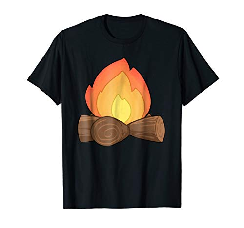 Fire Smores and Firefighter Group Halloween Costume T-shirt -