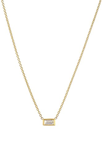 Diamond baguette necklace ()