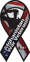 (Afghanistan War Veteran Salute Large Ribbon Magnet)