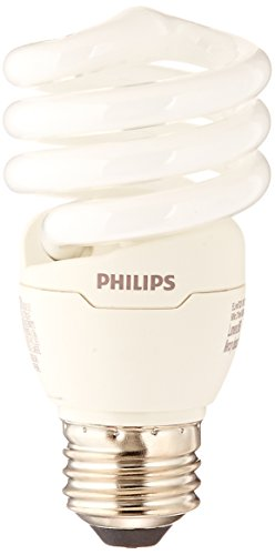 Philips LED Philips 420091 823031 CFL Light Bulb 13W T2 Twister 6500K, 60 Watt Equivalent 4-Pack, Daylight Deluxe, 4 Count