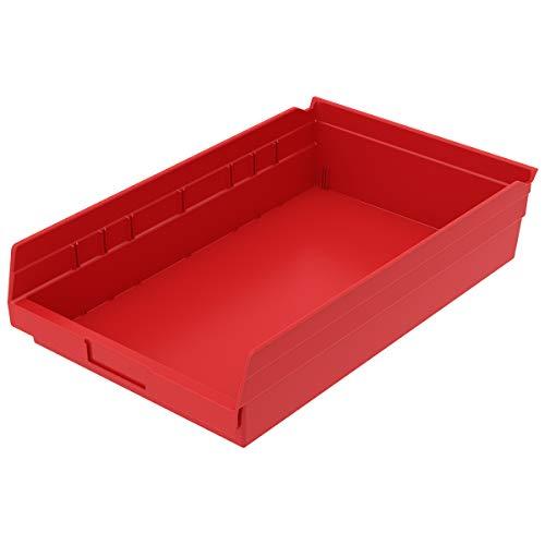 Akro-Mils, 30178RED, Shelf Bin, 17-7/8 In. L, 4 In. H, Red