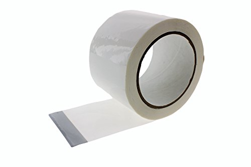 3'' in x 60 yd White House Wrap Tape Sheathing Building Wrapping Housewrap Sheath Tape Insulation Seaming Plastic Sheets FOR Sealing TYVEK in Construction or Moisture Dust barrier Asbestos Abatement by TapeSmith