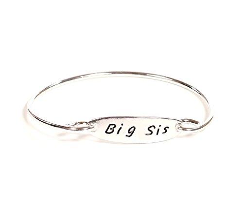 Pretty Simple Women's Silver Toned Big Sis Bracelet -