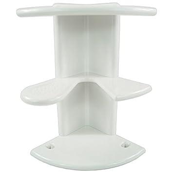 duschregal badregal mit 3 ablagen fr dusche oder badewanne duschablagebadabalage eckregal - Duschablage Kunststoff