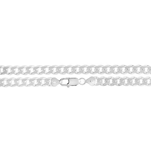 Hommes de 8mm Argent Massif 925en argent sterling Miami cubain Chaîne Bracelet ou collier, fabriqué en Italie