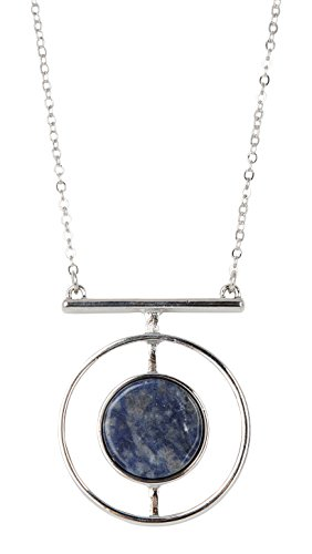 SPUNKYsoul New! Sodalite Geo Circle Long Statement Necklace Collection