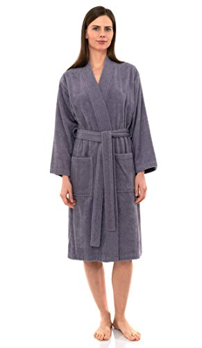 - TowelSelections Women's Robe Turkish Cotton Terry Kimono Bathrobe Small/Medium Daybreak