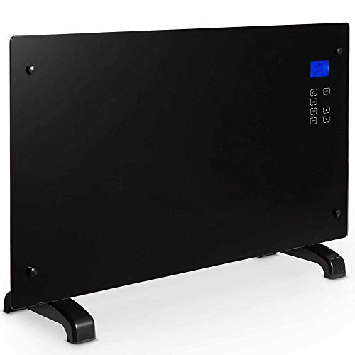 VonHaus Glass Panel Convector Heater 2KW – Wall Mounted or Freestanding...