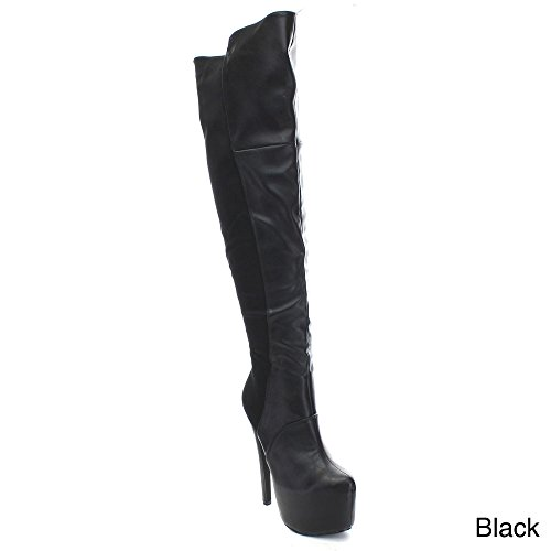 adacecd6e409 Eye Candie Sparkles-329 Women s Platform Stiletto Heel 50 50 Over the Knee  High Boots