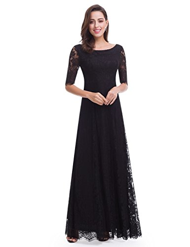 long black evening dress size 14 - 6