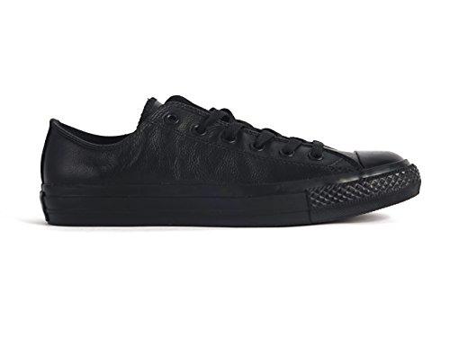CONVERSE Unisex Chuck Taylor All Star Ox Fashion Sneaker Leather Shoe - Black Mono - Mens - 9.5