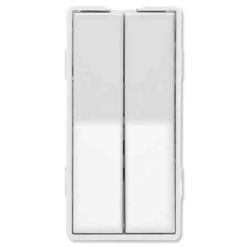 Simply Automated ZS12-W Custom Series Dual Tall Faceplate, White (Accessory Switch Double Switchplates)