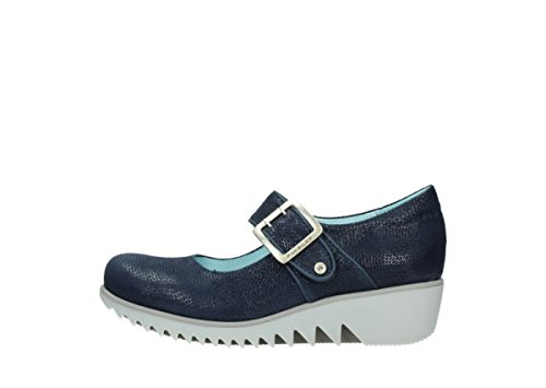 Wolky Comfort Mary Janes Nobile 20800 In Pelle Blu