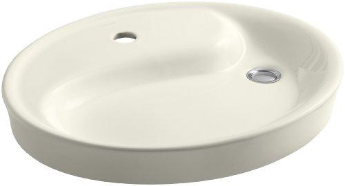 KOHLER K-2354-1-96 Yin Yang Wading Pool Bathroom Sink with Single-Hole Faucet Drilling, Biscuit