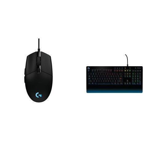9918eb4b62b Logitech G203 Prodigy Wired Gaming Mouse, Black (910-004842) + Logitech  G213 Prodigy Gaming Keyboard with 16.8 Million Lighting Colors (920-008083)  Bundle