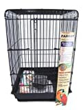 Penn Plax Starter Kit Cage with Accessories for Small Parrots