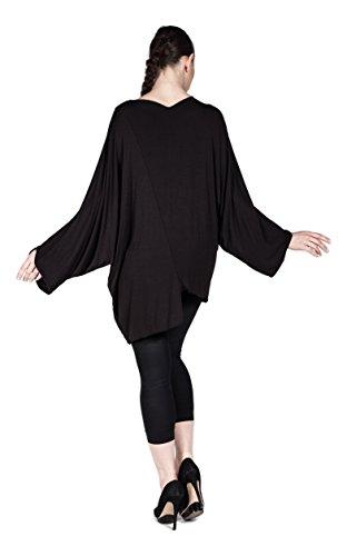 Designer Damen Tunika verziert mit Steinen, Oberteil Langarm Freizeit/Casual aus Merzerisation- Plus Size auch Übergrößen