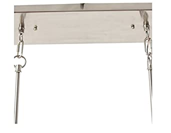 Modern Contemporary Metal Grey Rectangular Chandelier