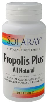 Solaray - Propolis Plus (All Natural), 90 capsules