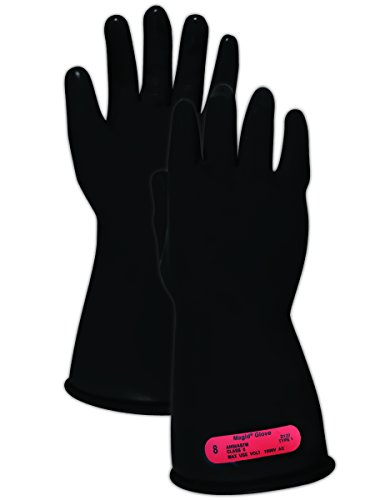 affordable Magid Safety M011B9 Electrical Gloves | ASTM D120-09 Compliant Class 0 Rubber Electrical Insulating Gloves with Straight Cuff, Work, 11