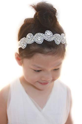 Missgrace Bridal Crystal Flower Girl Headband Wedding Hair Accessories Hair Jewelry Rhinestone Jewelry Headdress Party Headband Hair Accessories Silver