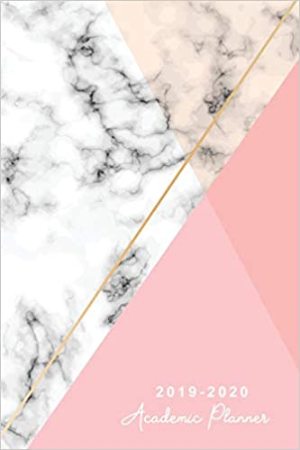2019-2020 Academic Planner: Marble White Cover | 12 Month ...
