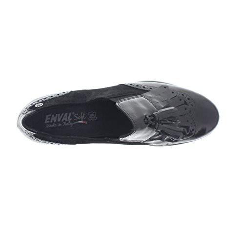ENVAL SOFT 2252900 Scarpe in Pelle Stile Inglese Francesine Tacco Donna  Frangia  Amazon.it  Scarpe e borse 66fdfc730d8