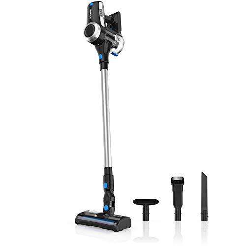 Cordless Vacuum Cleaner, Stick 2 in 1 Handheld Vacuum Cleaner 18KPa, 350W, HEPA filter, Replaceable Battery, Dcenta