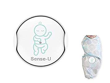 Sense-U Baby Breathing & Rollover Movement Monitor with a Free Swaddle  Blanket(Small: 0-3m): Alert You for No Breathing Movement, Stomach  Sleeping,